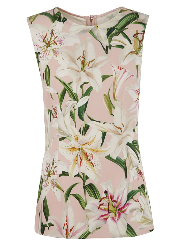 Dolce & Gabbana Floral Print Tank Top - pink