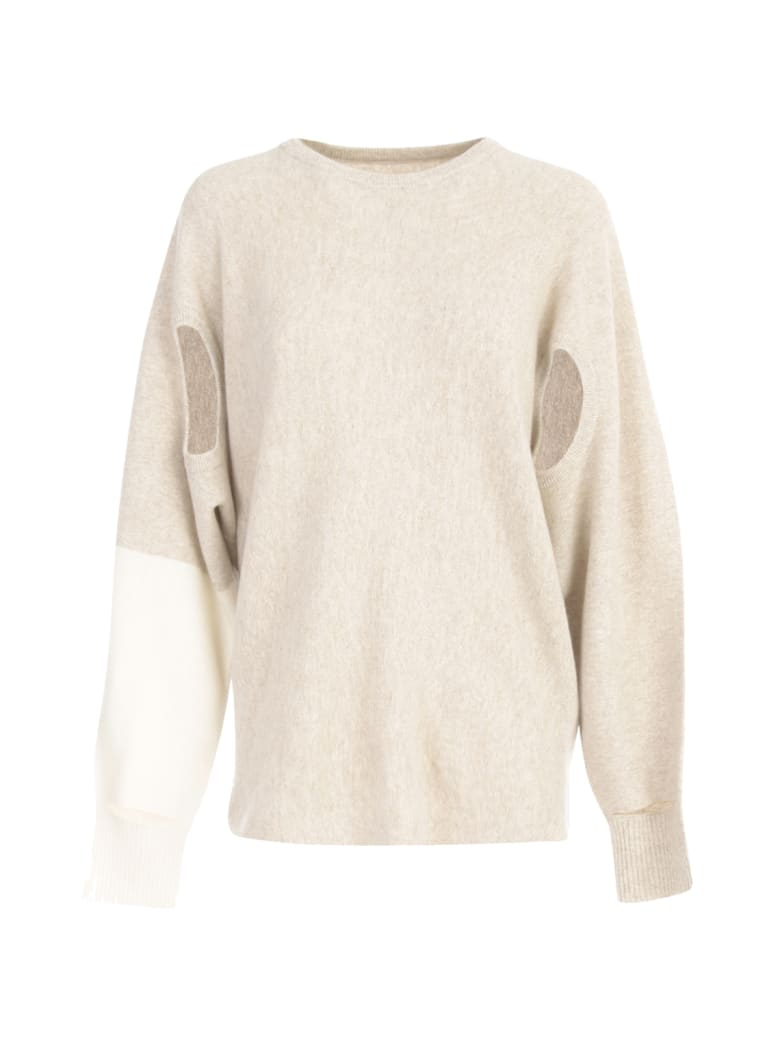 Issey Miyake Hand It Hand Crew Neck Sweater - Beige Hued