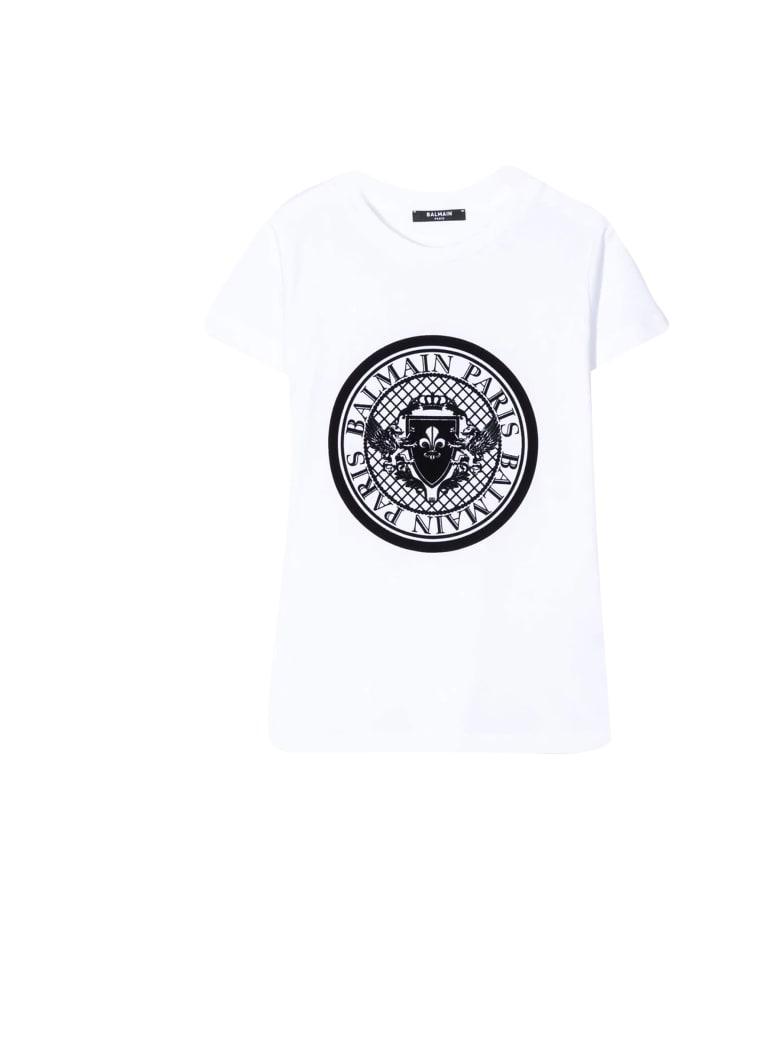 Balmain Kids Round-neck T-shirt - Bianca