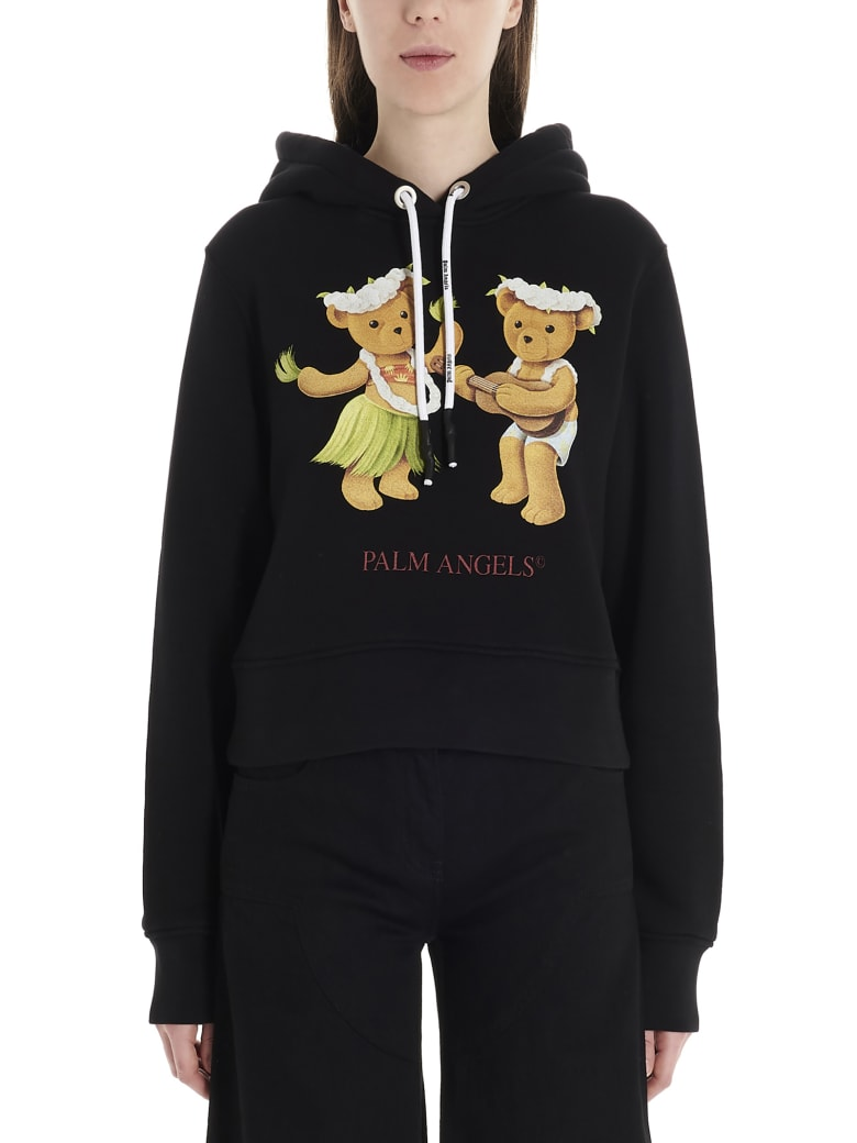 Palm Angels 'dancing Bears' Hoodie - Black