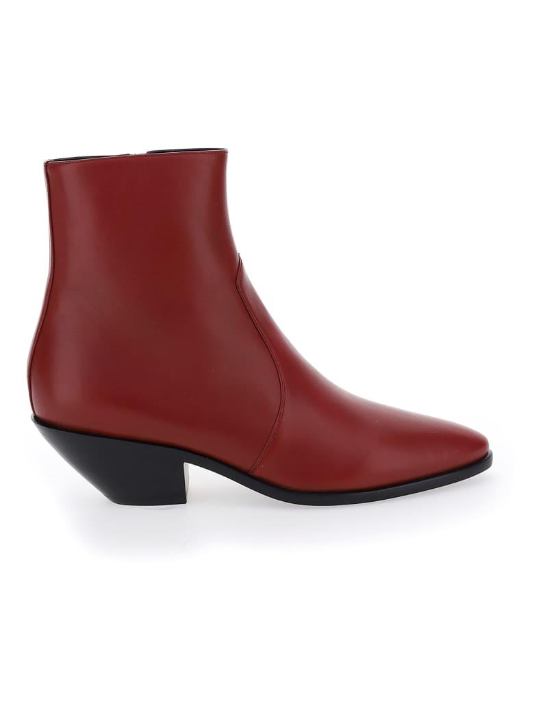 Saint Laurent West Boots - Opyum red