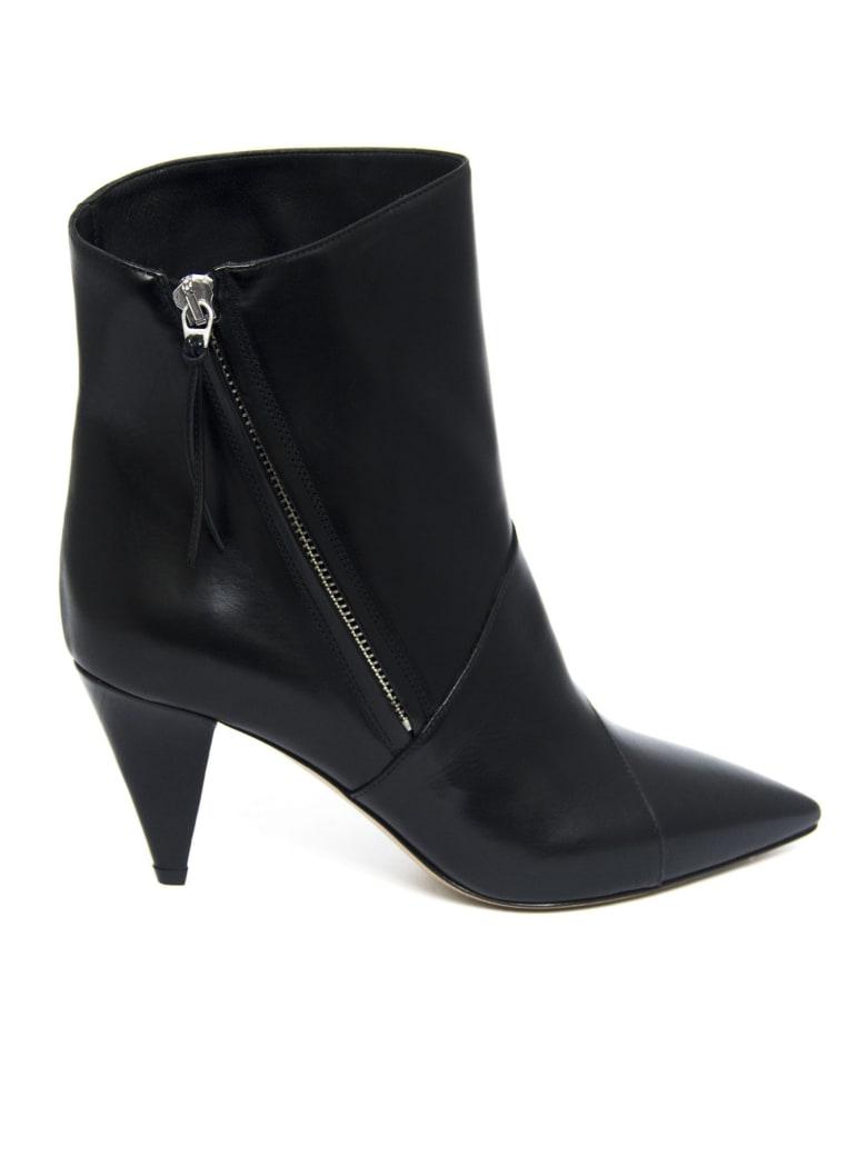 Isabel Marant Black Leather Latts Boots - Nero