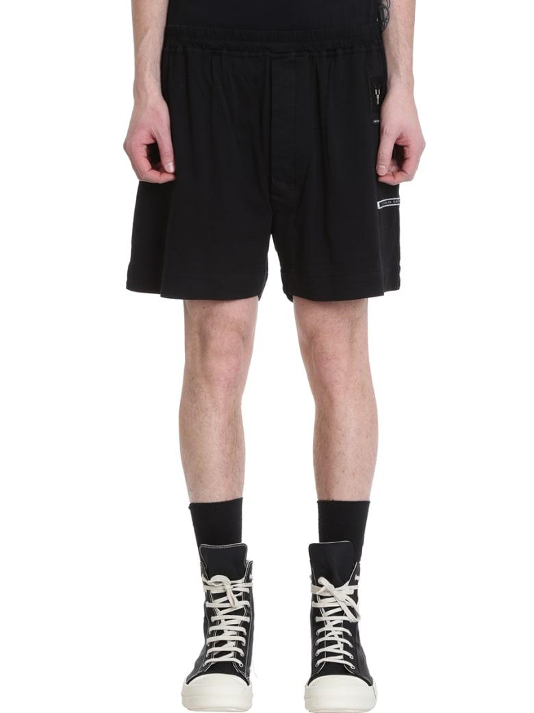 DRKSHDW Black Cotton Shorts - black