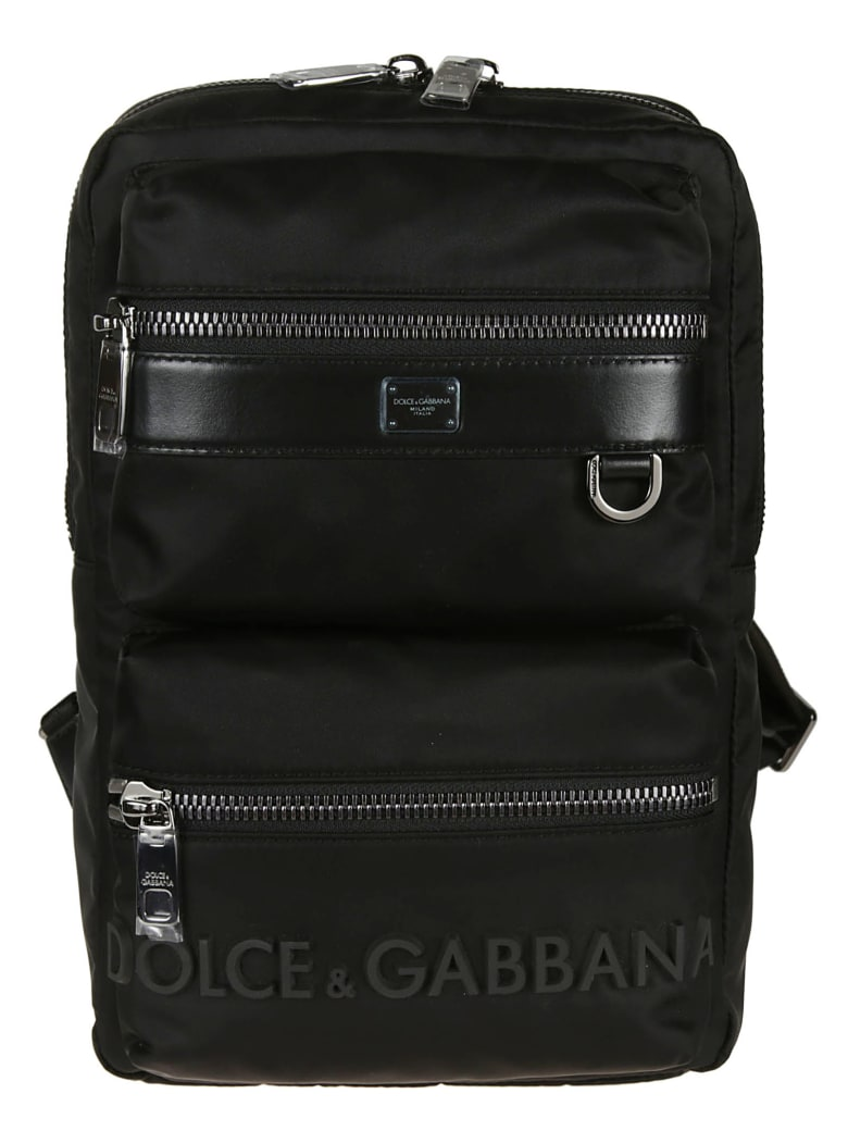 Dolce & Gabbana Logo Backpack - Black