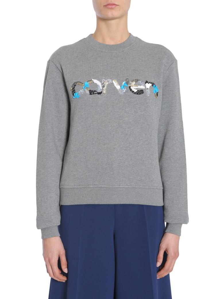 Carven Round Collar Sweatshirt - GRIGIO