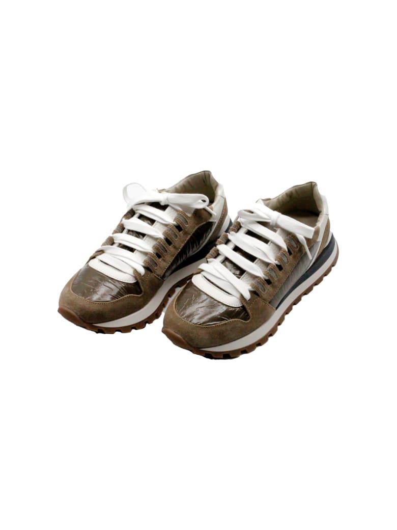 Brunello Cucinelli Suede And Nylon Sneakers - Multicolor