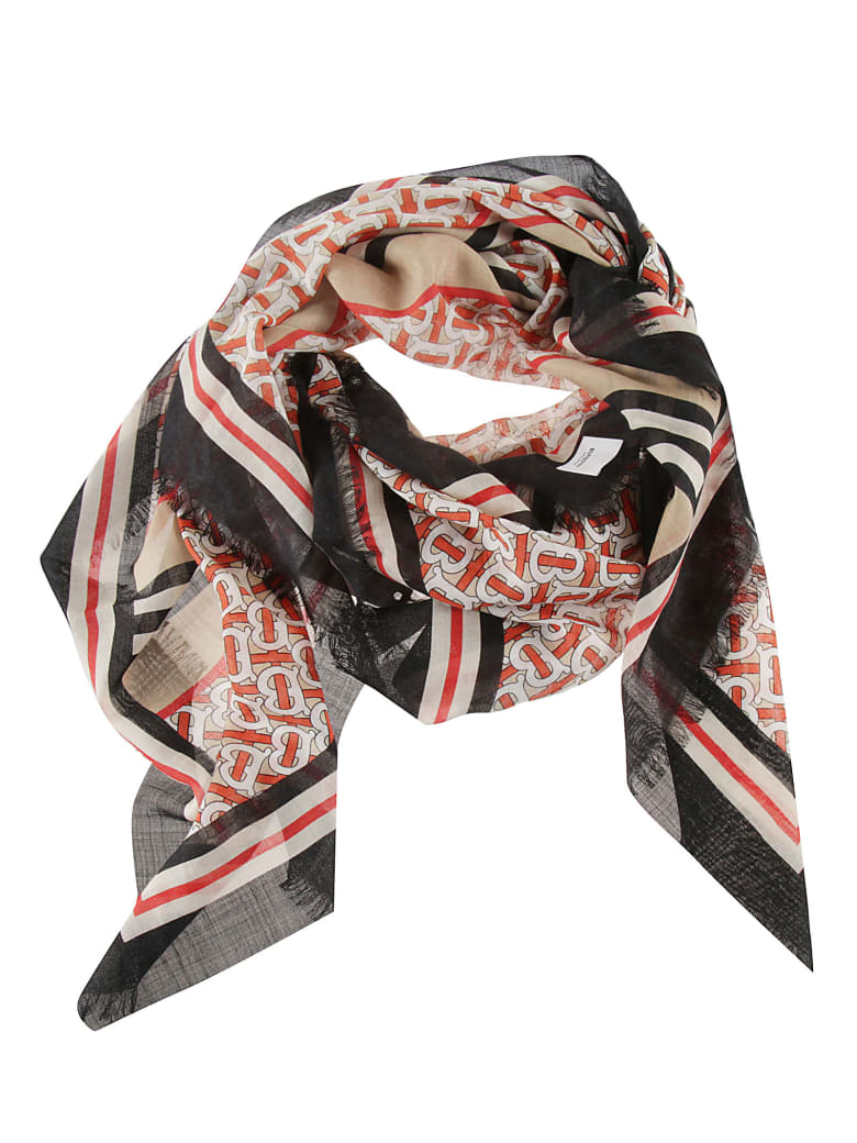 Burberry Printed Scarf - Vermillion