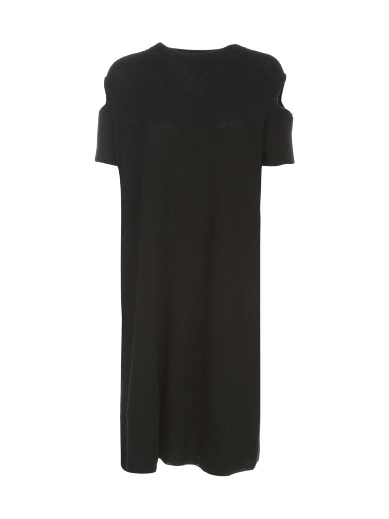 Y's Shoulder Hole Dress L/s W/shirt - Black