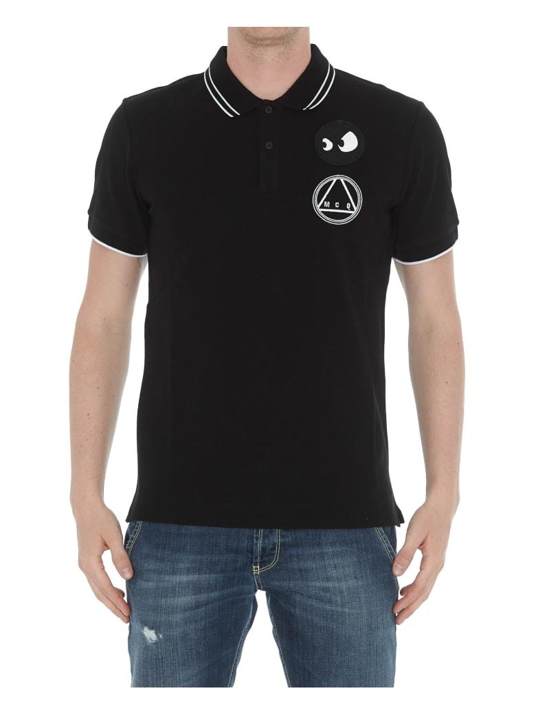 McQ Alexander McQueen Chester Monster And Logo Polo - Black