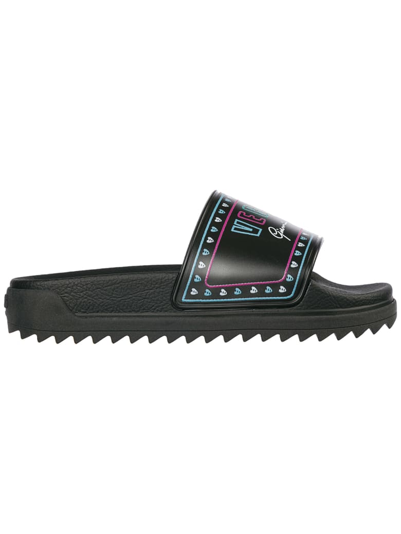 Versus Versace  Rubber Slippers Sandals - Multicolor black