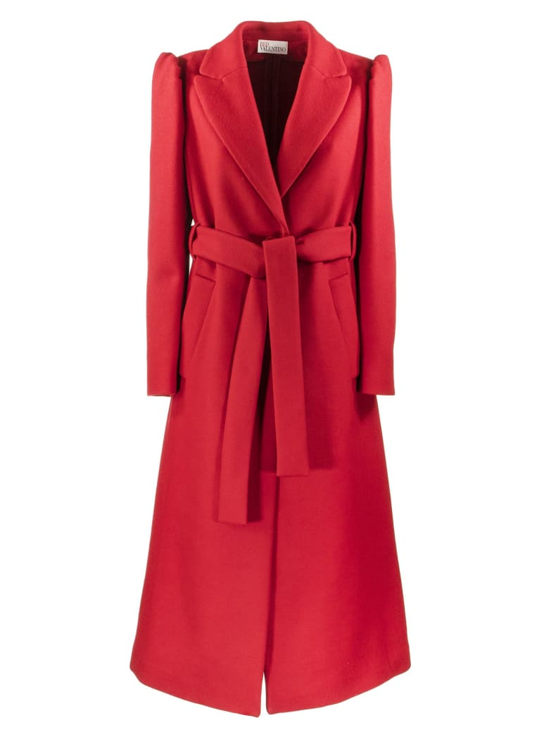 RED Valentino Wool Cashmere Coat - Red