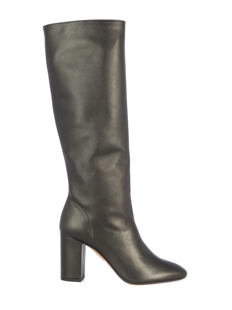 Aquazzura Boogie Boot 85/pelle 85 - Black