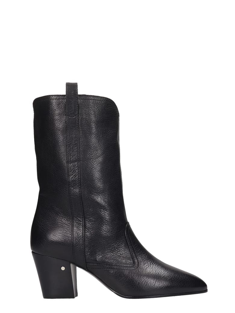 Laurence Dacade Simona High Heels Ankle Boots In Black Leather - black