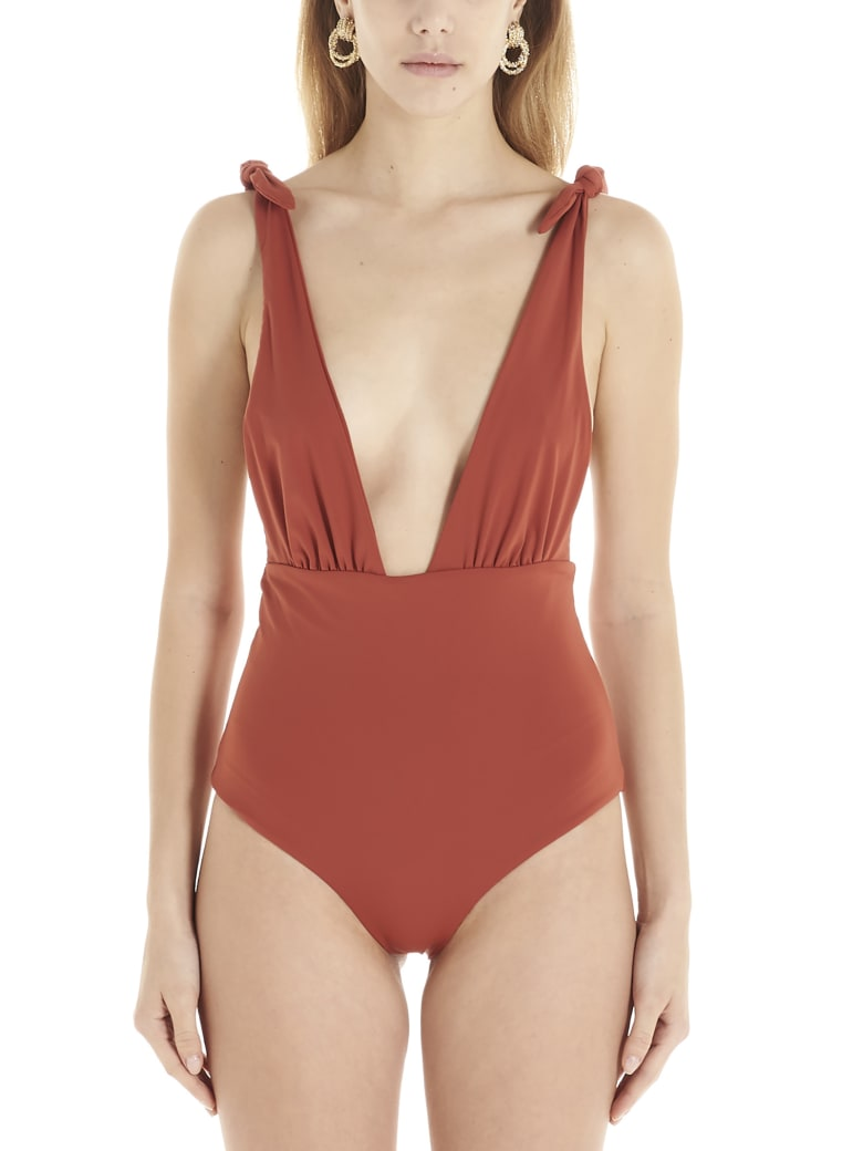 Mara Hoffman 'daphne' Swimsuits - Burgundy
