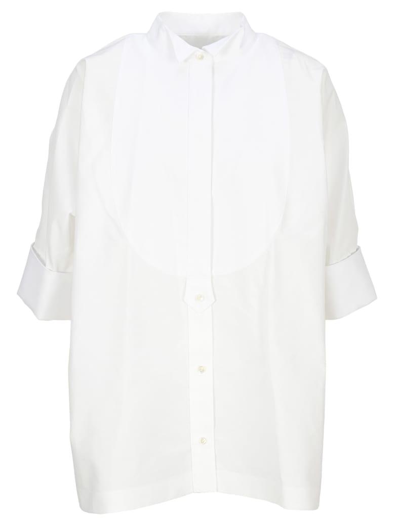 Sacai Short Sleeve Poplin Shirt - WHITE