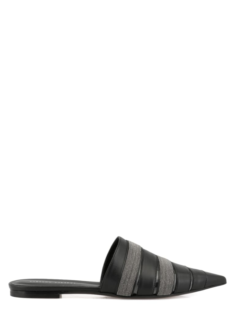 Fabiana Filippi Leather Flat Shoe - BLACK