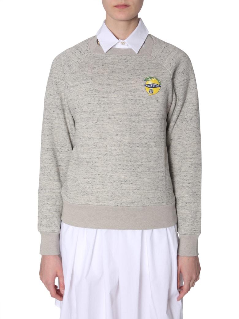 Maison Kitsuné Limone Di Capri  Patch Sweatshirt - GRIGIO