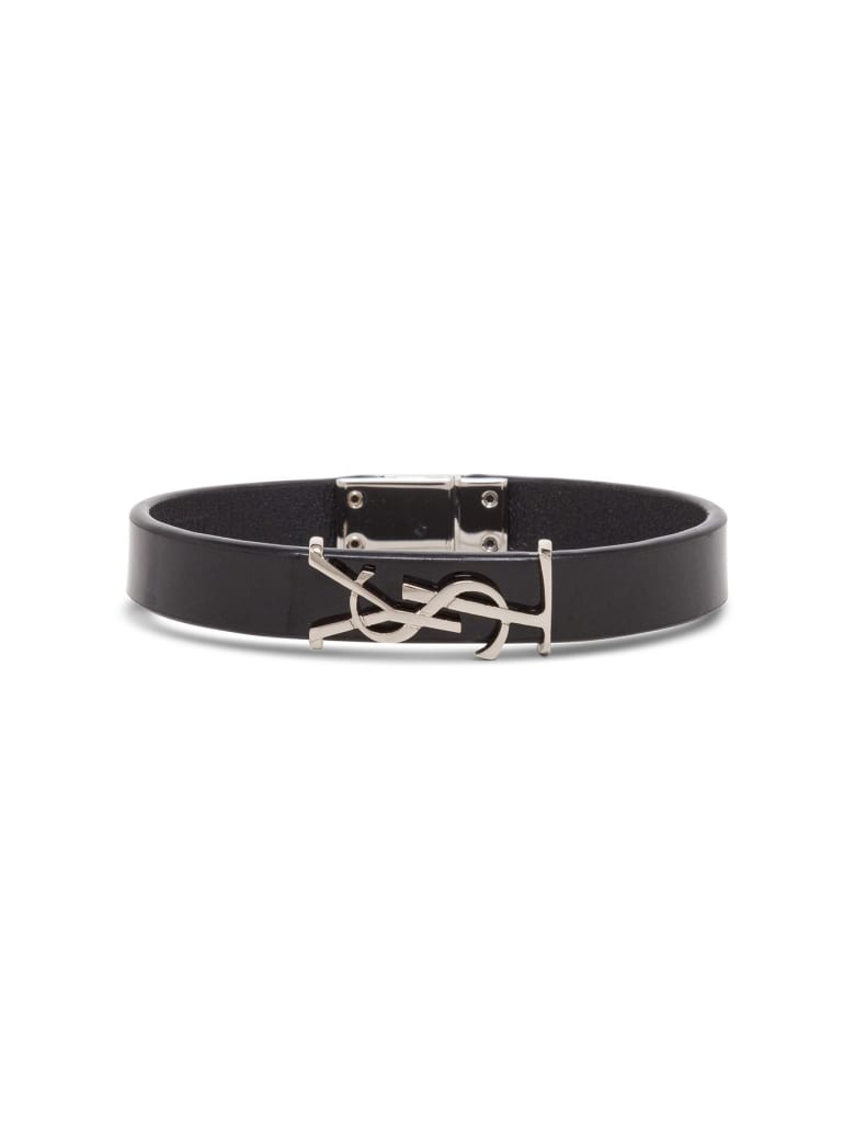 Saint Laurent Opyum Leather Bracelet - Black