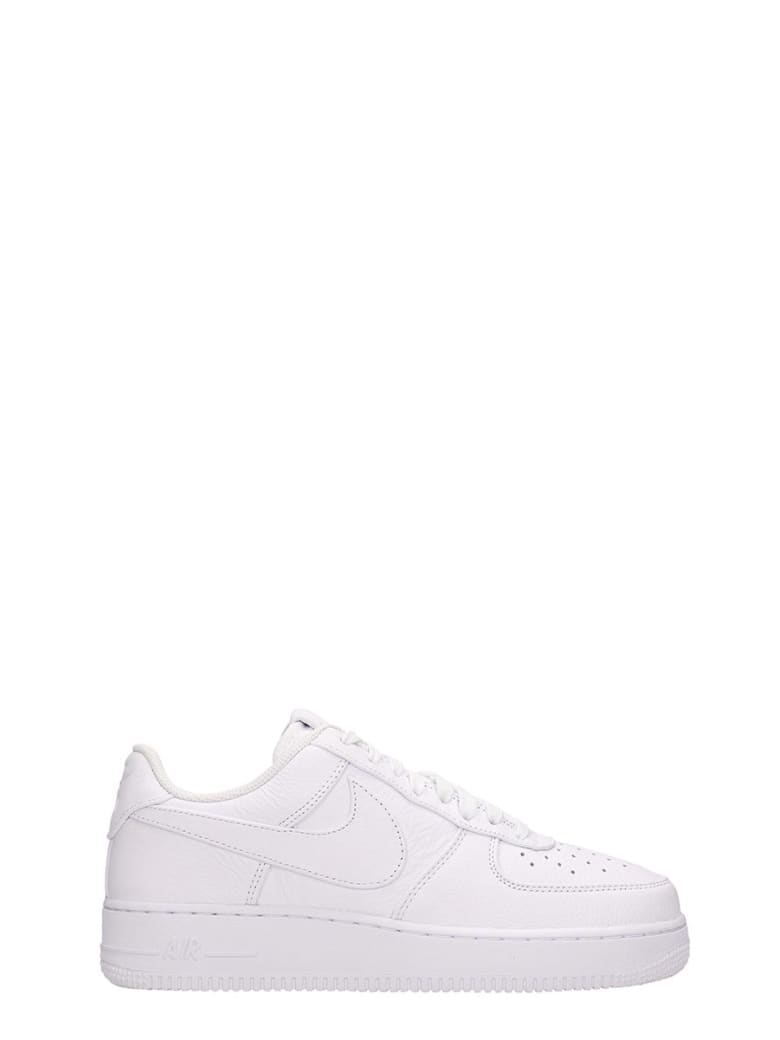Nike White Leather Air Force 1 07 Sneakers - white