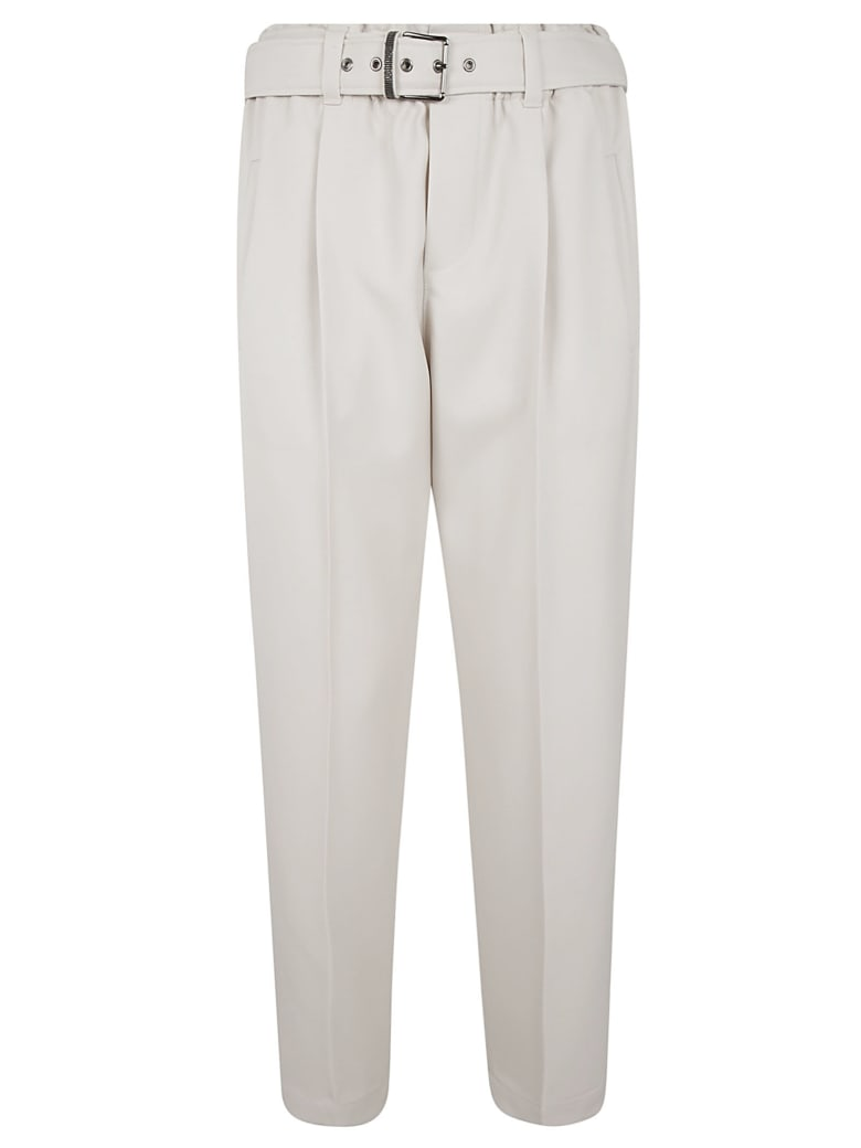 Brunello Cucinelli Belted Waist Trousers - Off-White