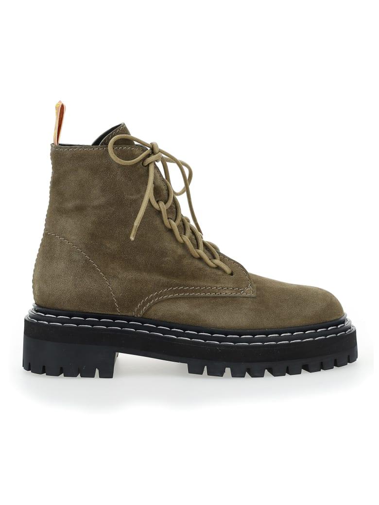 Proenza Schouler Combat Boots - Brown