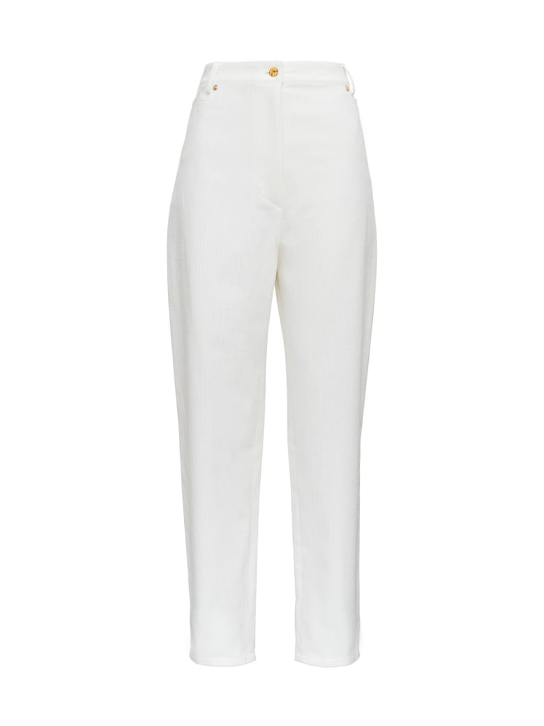 Patou Boyfriend Trousers - White