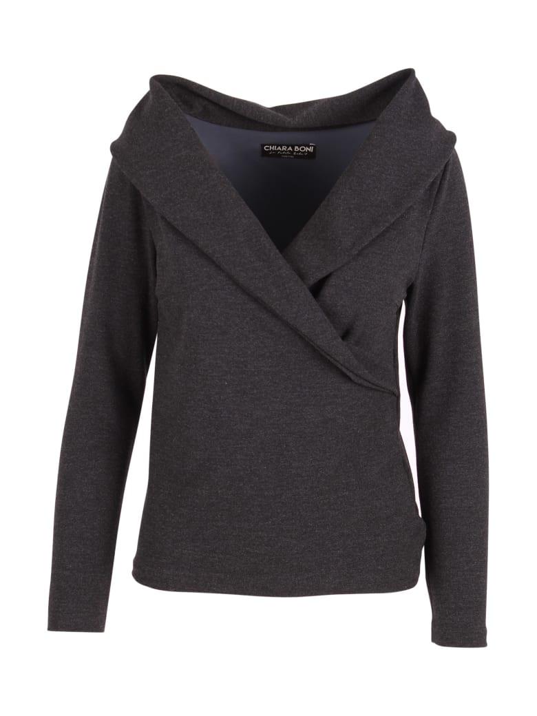 La Petit Robe Di Chiara Boni La Petit Robe By Chiara Boni 'lella' Viscose Topwear - Antracite