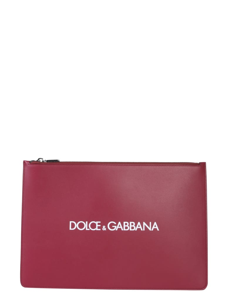 Dolce & Gabbana Document Holder With Logo - ROSSO
