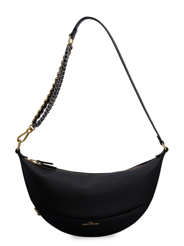 Marc Jacobs The Eclipse Leather Shoulder Bag - black
