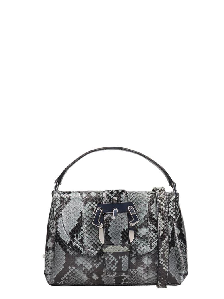 Paula Cademartori Amelie Small Shoulder Bag In Grey Leather - grey