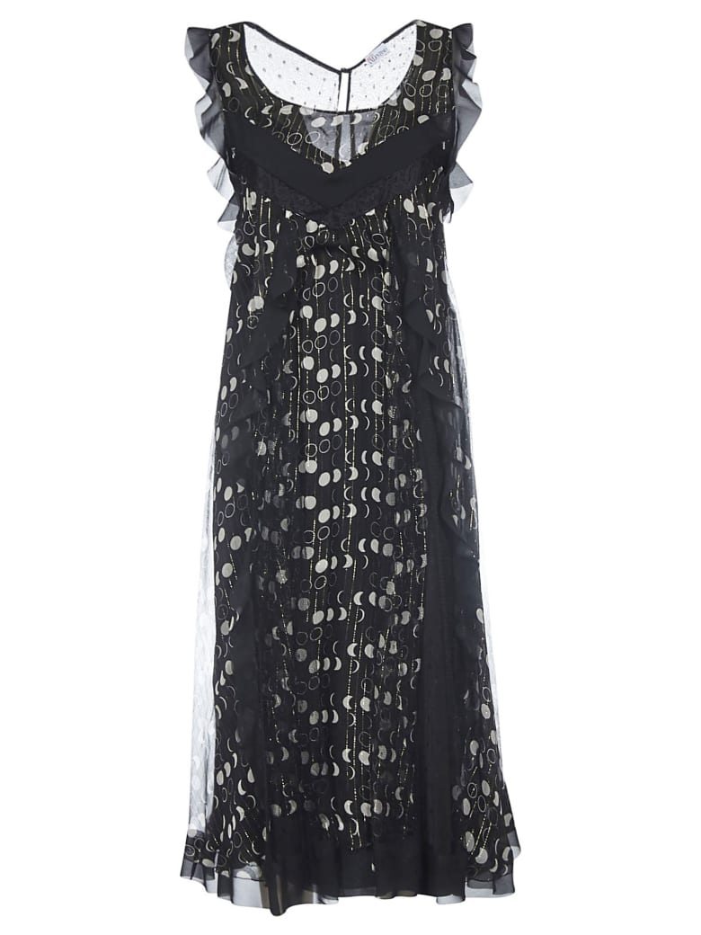Valentino Moon Phases Print Dress - Black