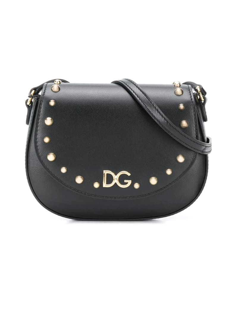 Dolce & Gabbana Black Shoulder Bag Cahier Model Dolce&gabbana Kids - Nero