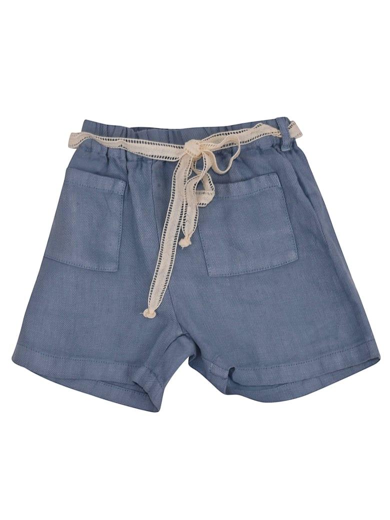 Babe & Tess Self-tie Shorts - Azure
