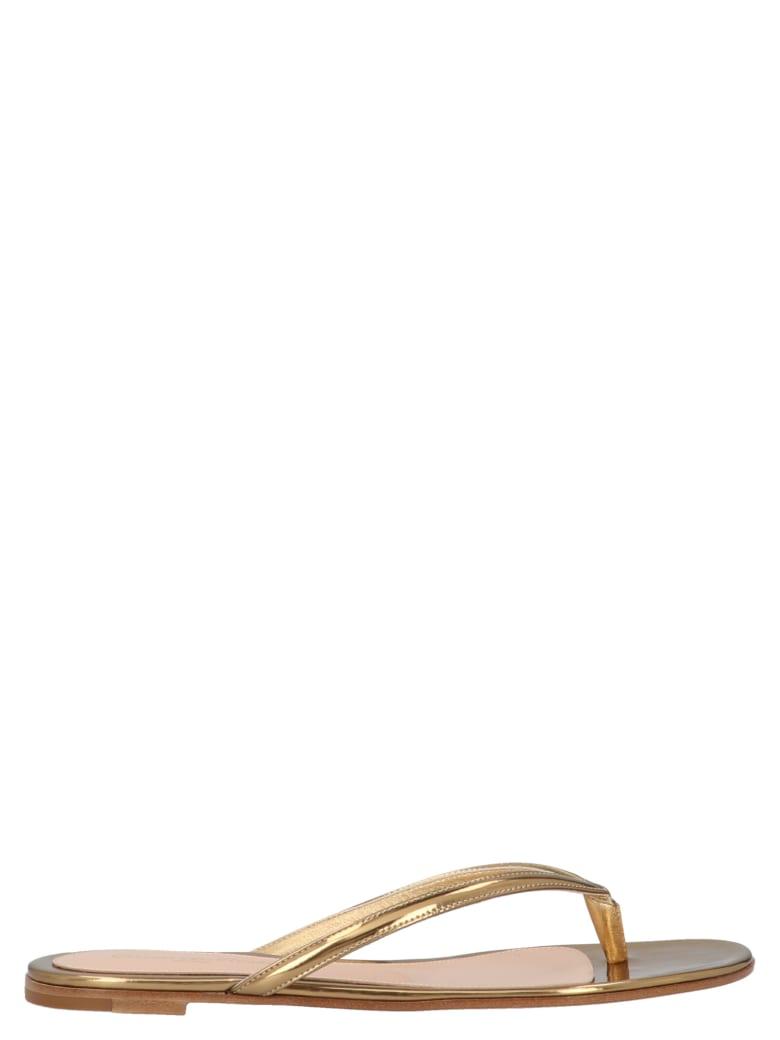 Gianvito Rossi 'diva' Shoes - Gold