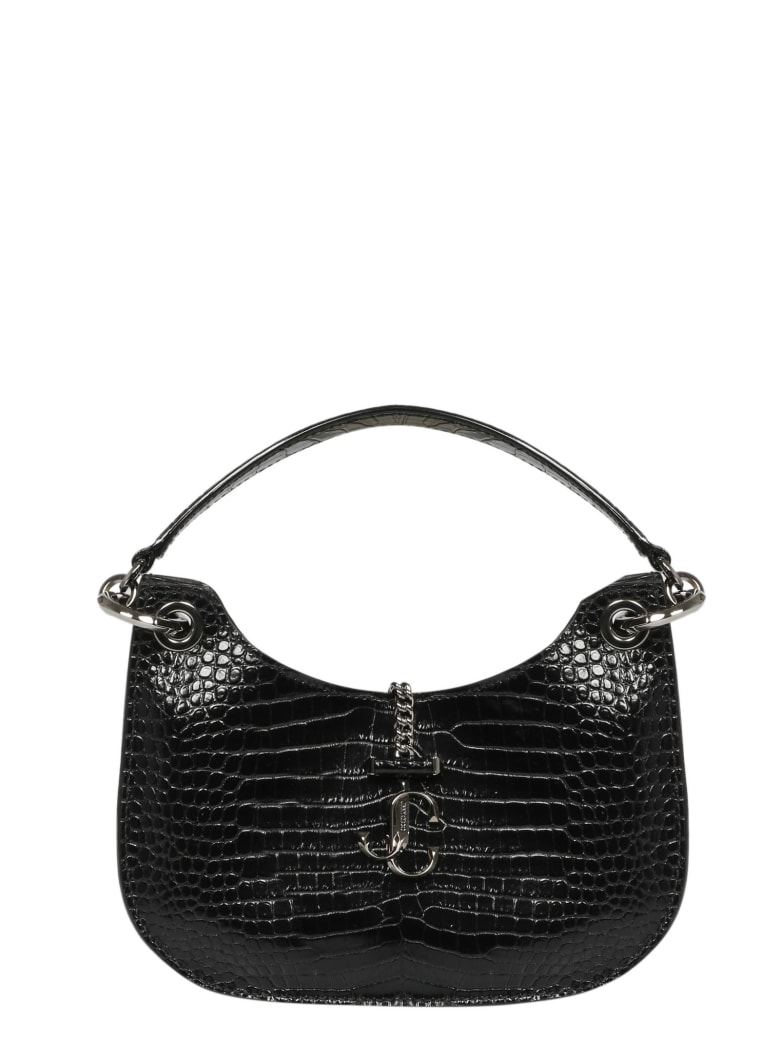 Jimmy Choo Shiny Varenne Hobo Bag - Black