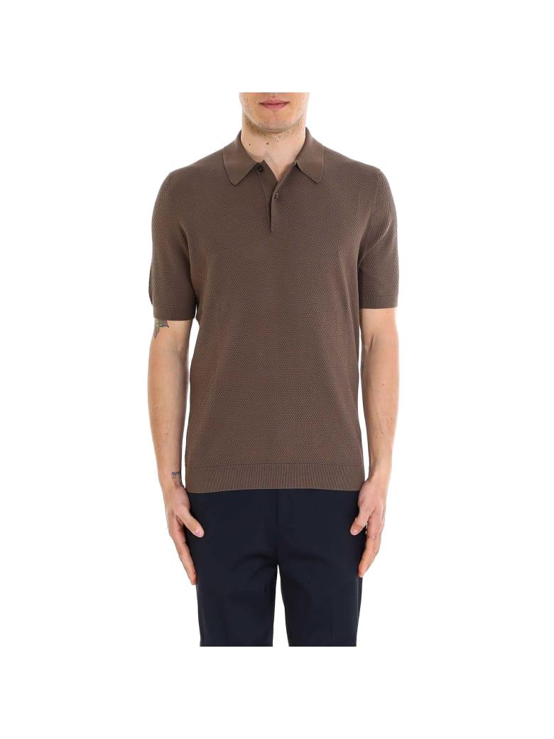 Tagliatore Polo Shirt - Brown