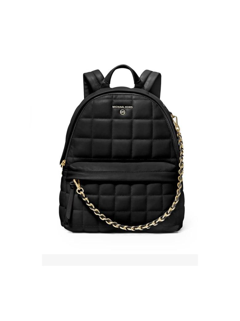 Michael Kors Slater Black Quilted Medium Backpack - Black