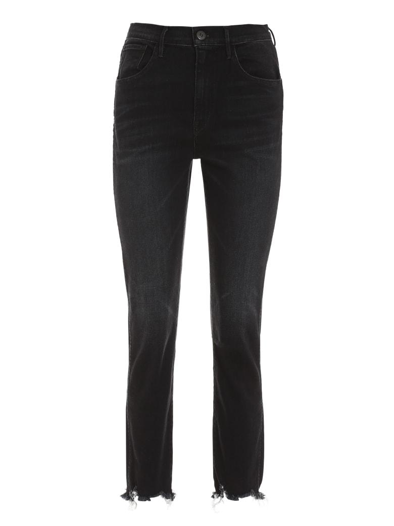 3x1 Straight Authentic Crop Jeans - black