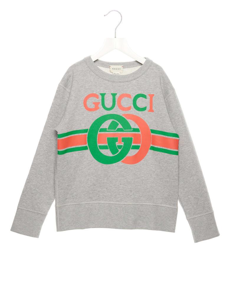 Gucci 'logo Interlock' Sweatshirt - Grey