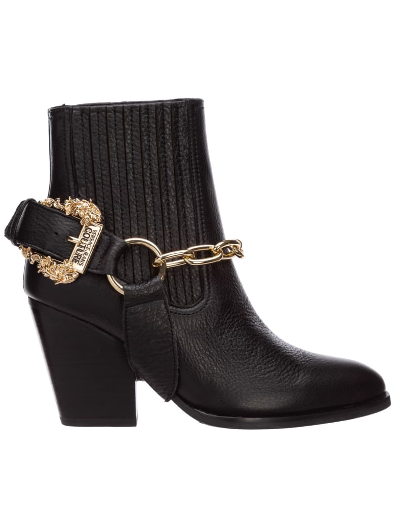 Versace Jeans Couture Paris Heeled Ankle Boots - Nero