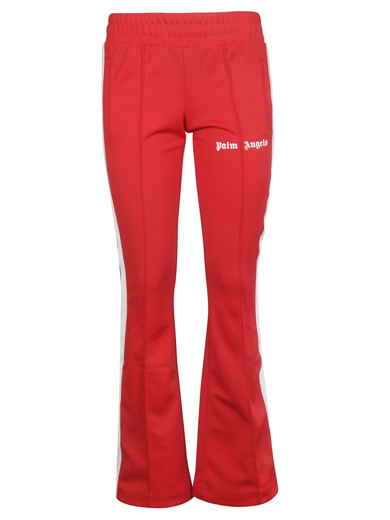 Palm Angels Jersey Track Pants - Red White