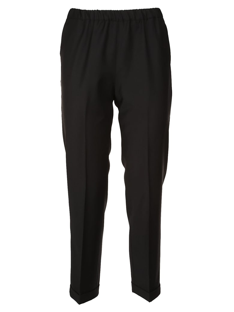 QL2 Cropped Trousers - Black