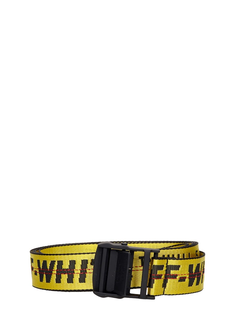 Off-White Classic Industr Belts In Yellow Synthetic Fibers - Yellow
