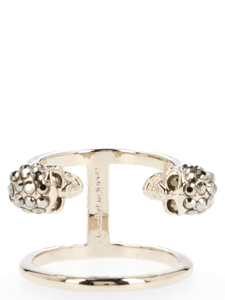 Alexander McQueen 'double Skull' Ring - Gold