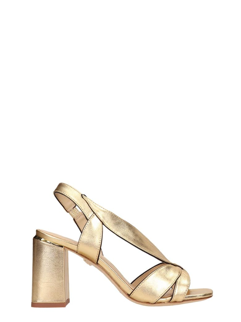 Lola Cruz Gold Leather Sandals - gold