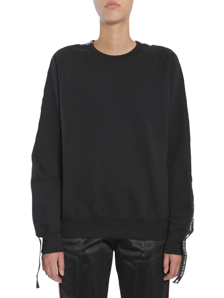 Forte Couture Sweatshirt With Side Logo Band - NERO
