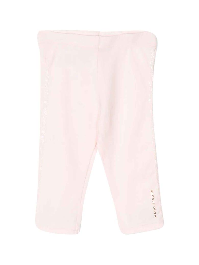 Little Marc Jacobs Pink Leggins With Side Logo - Rosa