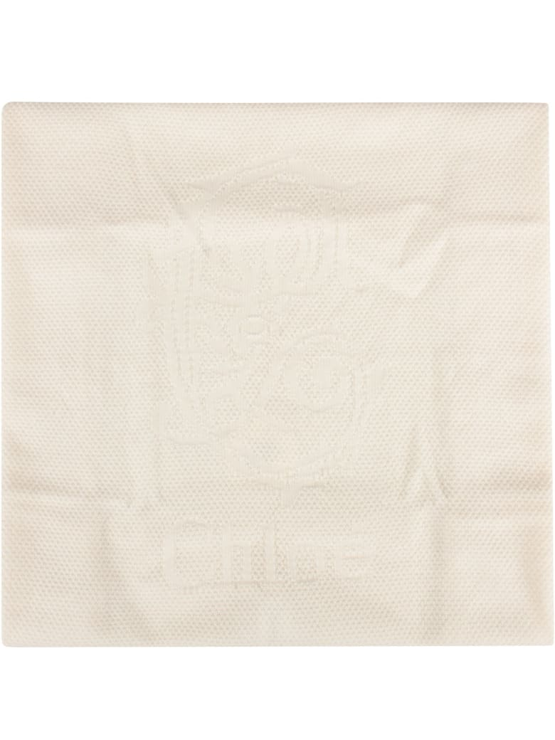 Chloé Ivory Blanket For Baby Girl - White
