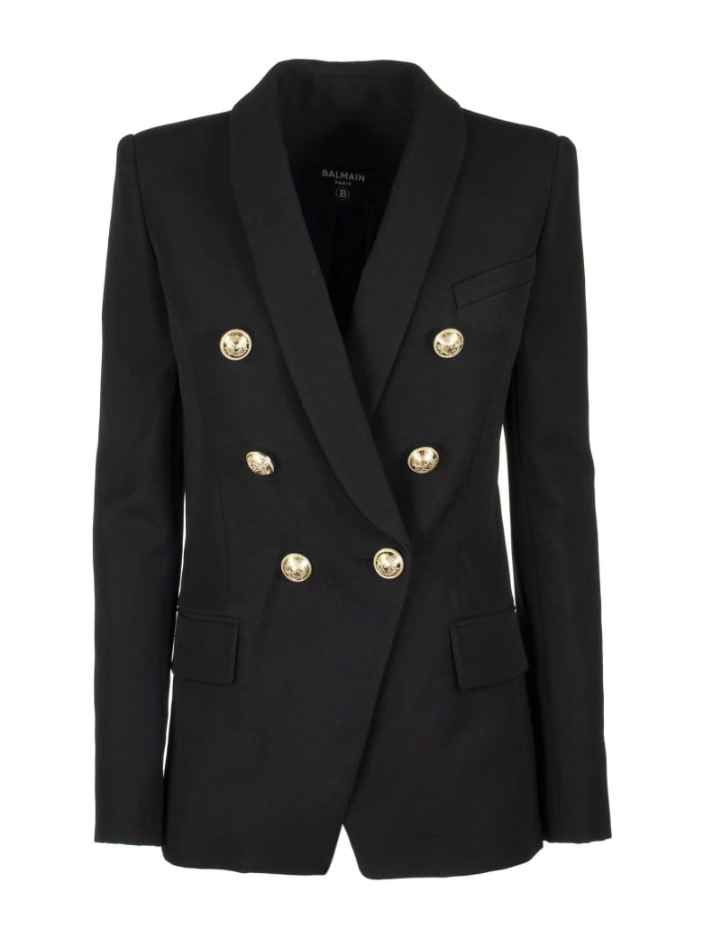 Balmain Double Breasted Jacket Blazer - Black
