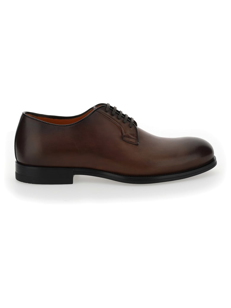 Santoni Lace Up Shoes - Smoke